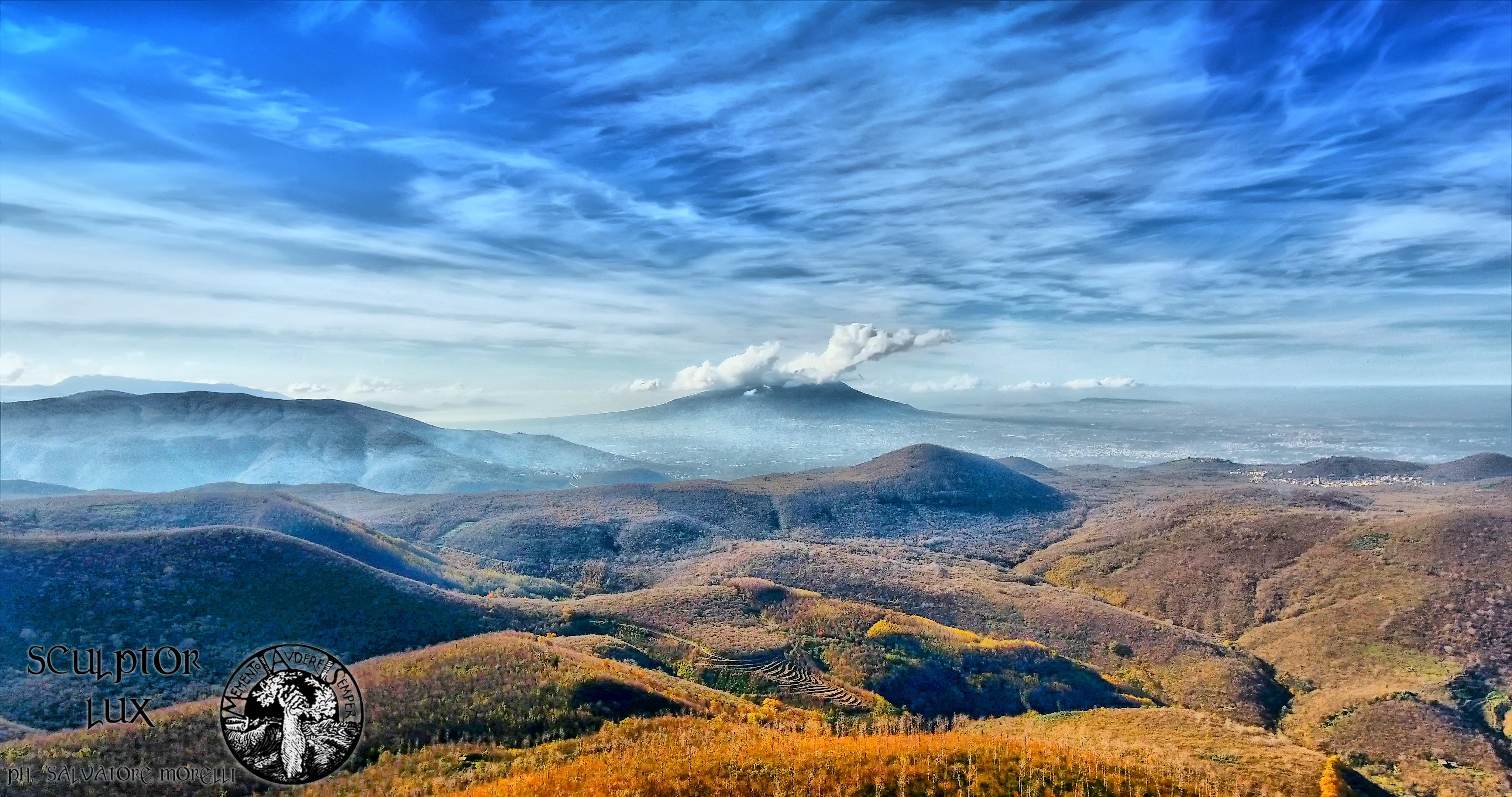 Vesuvio dal bosco di Arciano, Baiano (AV)